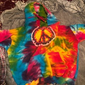Happy Trails Tie Dye Hoodie!